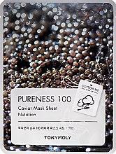 Voňavky, Parfémy, kozmetika Textilná maska s čiernym kaviárovým extraktom - Tony Moly Pureness 100 Caviar Mask Sheet
