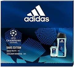 Voňavky, Parfémy, kozmetika Adidas UEFA Champions League Dare Edition - Sada (edt/50ml + sh/gel/250ml)