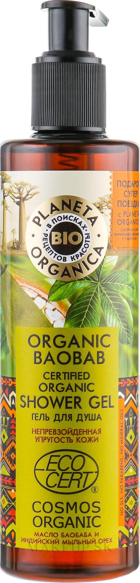 Spevňujúci sprchový gél - Planeta Organica Organic Baobab Shower Gel — Obrázky 280 ml