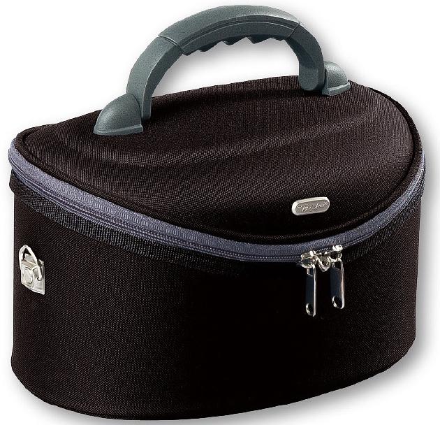 Kozmetická taška veľká oválna, 95047, čierna - Top Choice Oval Black
