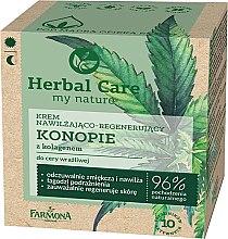 """Voňavky, Parfémy, kozmetika Krém na tvár """"Konopa s kolagénom"""" - Farmona Herbal Care"""