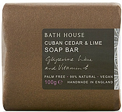 Voňavky, Parfémy, kozmetika Bath House Cuban Cedar & Lime - Parfumované mydlo