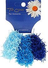 Voňavky, Parfémy, kozmetika Gumy na vlasy 3 ks, azurové a modrá, 21695 - Top Choice