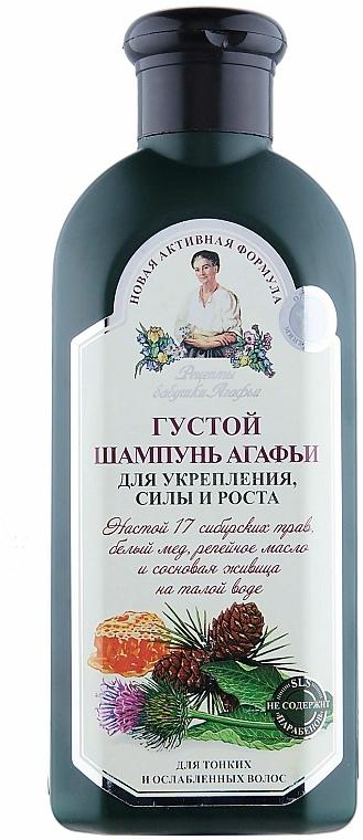 Agafia hustý šampón pre pevnosť a rast vlasov - Recepty babičky Agafii
