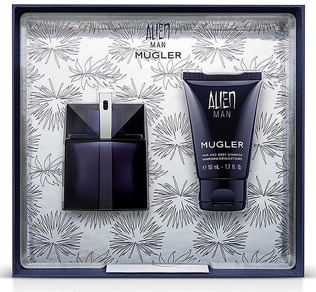 Mugler Alien Man Gift Set - Darčeková sada (edt/50ml+b/shm/50ml)