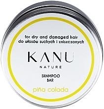 Voňavky, Parfémy, kozmetika Šampón na suché a poškodené vlasy, v kovovej nádobe - Kanu Nature Shampoo Bar Pina Colada For Dry And Damaged Hair