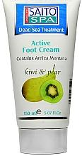 """Voňavky, Parfémy, kozmetika Krém na nohy """"Hruška a kivi"""" - Saito Spa Active Foot Cream Kiwi Pear"""
