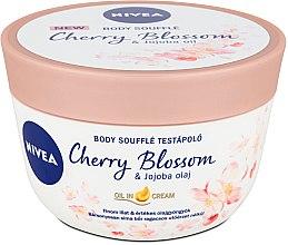 Voňavky, Parfémy, kozmetika Telový cukor s cherry a jojobovým olejom - Nivea Body Souffle Cherry Blossom & Jojoba Oil