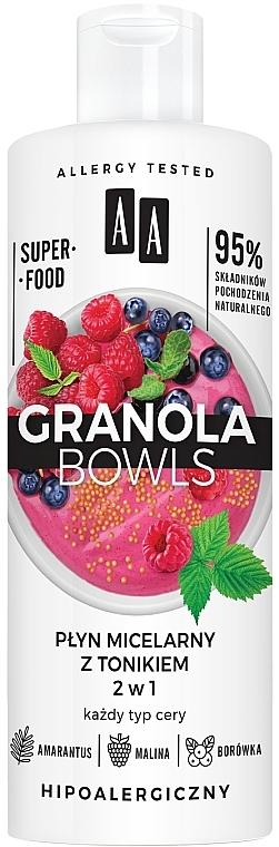 Micelárna voda s tonikom pre všetky typy pleti - AA Granola Bowls Micellar Water And Tonic 2 in 1