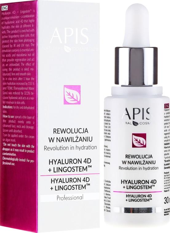 Hydratačná emulzia na tvár - APIS Professional 4D Hyaluron + Lingostem