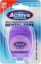 Voňavky, Parfémy, kozmetika Medzizubná niť superthin s mätou a fluórom - Beauty Formulas Active Oral Care Advanced Mint Waxed Fluor 50 m