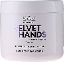 Voňavky, Parfémy, kozmetika Perly na kúpanie rúk s vôňou ľalií a orgovánu - Farmona Professional Velvet Hands Bath Beads For Hands
