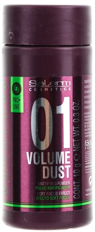 Púder na dodanie vlasom objemu a hustoty - Salerm Pro Line Volume Dust 01 Mattifying Powder