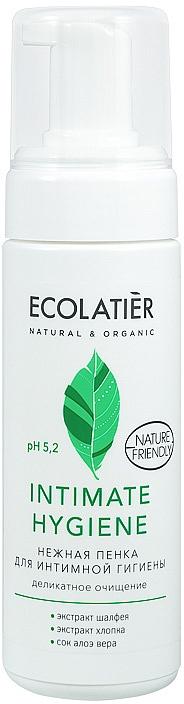 Jemná pena pre intímnu hygienu s výťažkami zo šalvie a bavlny - Ecolatier Intimate Hygiene