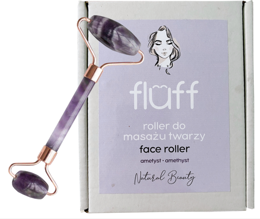 Masážny prístroj na tvár Ametyst - Fluff Face Roller Ametyst
