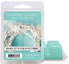 Voňavky, Parfémy, kozmetika Vosk na aromatickú lampu - Country Candle Baby It's Cold Outside Wax Melts