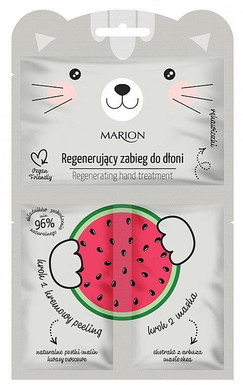 """Regeneračná kúra na ruky """"Melón"""" - Marion Funny Animals Regenerating Hand Treatment"""
