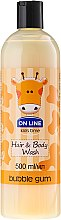 """Voňavky, Parfémy, kozmetika Šampónový sprchový gél """"Žuvačka"""" - On Line Kids Time Hair & Body Wash Bubble Gum"""