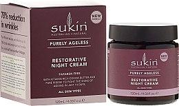 Voňavky, Parfémy, kozmetika Anti-age nočný krém na tvár - Sukin Purely Ageless Restorative Night Cream