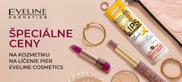 Zľava na akciový sortiment Eveline Cosmetics. Ceny na webe sú uvedené so zľavou