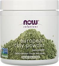 Voňavky, Parfémy, kozmetika Hlina na tvár - Now Foods Solutions European Clay