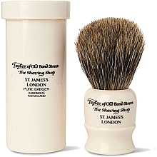 Voňavky, Parfémy, kozmetika Štetka na holenie, 8,25 cm, s cestovným puzdrom - Taylor of Old Bond Street Shaving Brush Pure Badger