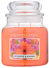 """Voňavky, Parfémy, kozmetika Vonná sviečka """"Slnko a sedmokrásky"""" (Tuba) - Country Candle Sunshine & Daisies"""
