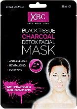 Voňavky, Parfémy, kozmetika Čistiaci maska na tvárs uhlím - Xpel Marketing Ltd Body Care Black Tissue Charcoal Detox Facial Face Mask