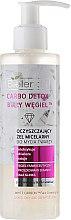 """Voňavky, Parfémy, kozmetika Čistiaci micelárny gél na umývanie a odstránenie make-upu """"Biele uhlie"""" - Bielenda Carbo Detox Micellar Gel"""