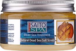 """Voňavky, Parfémy, kozmetika Soľný telový scrub """"Mango"""" - Saito Spa Mango Dead Sea Salt Body Scrub"""
