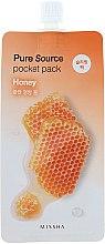 Voňavky, Parfémy, kozmetika Nočná maska na tvár s medovým extraktom - Missha Pure Source Pocket Pack Honey
