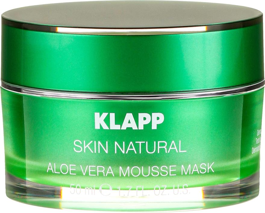 Upokojúca maska s aloe vera - Klapp Skin Natural Aloe Vera Mousse Mask — Obrázky N2