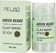 Voňavky, Parfémy, kozmetika Maska na tvár v tyčinke Green Beans - Melao Green Beans Clay Mask Stick