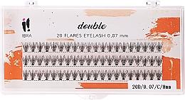 Voňavky, Parfémy, kozmetika Falošné mihalnice vo zväzkoch, C 8 mm - Ibra 20 Flares Eyelash Knot Free Naturals
