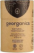 Voňavky, Parfémy, kozmetika Mydlo na čistenie zubov s aktívnym uhlím - Georganics Tooth Soap Stick Activated Charcoal