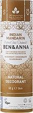 """Voňavky, Parfémy, kozmetika Dezodorant na báze sódy """"Indický mandarín""""(kartón) - Ben & Anna Natural Soda Deodorant Paper Tube Indian Mandarine"""