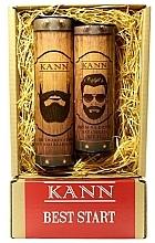 Voňavky, Parfémy, kozmetika Sada - Kann Best Start Man (f/d/cr/50ml + f/gel/150ml)