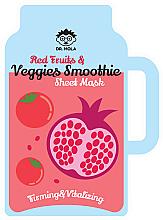 Textilná maska na tvár - Dr. Mola Red Fruits & Veggies Smoothie Sheet Mask — Obrázky N3