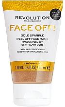 Voňavky, Parfémy, kozmetika Peelingujúca maska na tvár - Revolution Skincare Face Off! Gold Glitter Face Off Mask