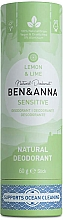 Voňavky, Parfémy, kozmetika Dezodorant Citrón a limetka (kartón) - Ben&Anna Natural Deodorant Sensitive Lemon & Lime