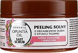 Voňavky, Parfémy, kozmetika Soľný scrub s organickým olejom z fíg - GlySkinCare Opuntia Oil Salt Scrub