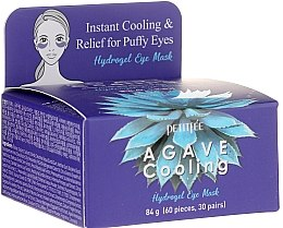 Voňavky, Parfémy, kozmetika Hydrogélové chladiace náplasti na oči s agávovým extraktom - Petitfee&Koelf Agave Cooling Hydrogel Eye Mask