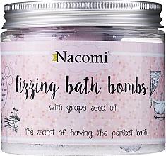 Voňavky, Parfémy, kozmetika Sada kúpeľné bomby - Nacomi Fizzing Bath Bomb With Grape Seed Oil (bomb/4ks)