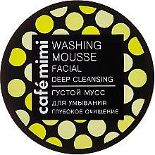 """Voňavky, Parfémy, kozmetika Hustá umývacia pena """"Hlboké čistenie"""" - Cafe Mimi Washing Mousse Facial Deep Cleaning"""