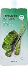 Voňavky, Parfémy, kozmetika Nočná maska s extraktom z aloe vera - Missha Pure Source Pocket Pack Aloe