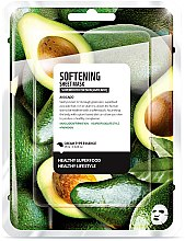 "Voňavky, Parfémy, kozmetika Textilná maska na tvár ""Avokádo"" - Superfood For Skin Softening Sheet Mask"