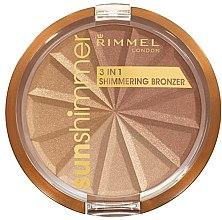 Voňavky, Parfémy, kozmetika Púder na tvár - Rimmel Sunshimmer 3in1 Shimmering Bronzing Powder