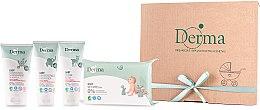 Voňavky, Parfémy, kozmetika Sada - Derma Eco Baby (cr/100ml+cr/100ml+shm/150ml+wipe/64)
