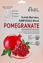 Voňavky, Parfémy, kozmetika Textilná maska s extraktom z granátového jablka - Ekel Super Natural Ampoule Pomegrante