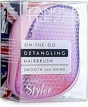 Voňavky, Parfémy, kozmetika Kompaktná kefa na vlasy - Tangle Teezer Compact Styler Sunset Pink